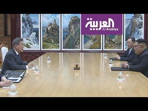 العرب اليوم - بالفيديو: لقاء بين زعيمي الكوريتين