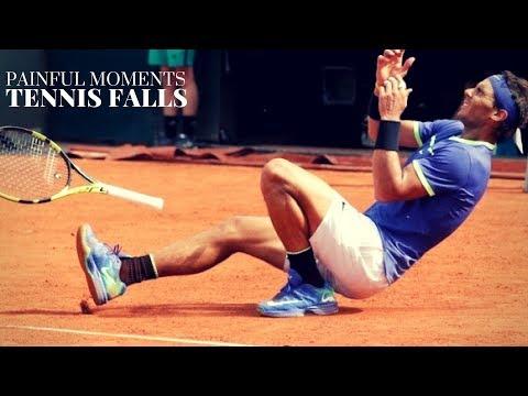tennis: momenti divertenti - cadute, colpi magistrali e distorsioni