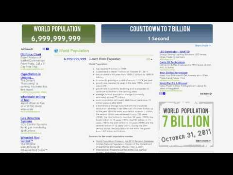 Worldometer - World Population: 7 Billion (2011.10.31.) (HD)