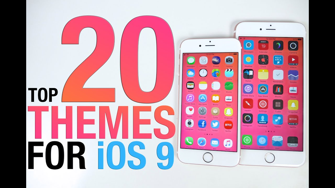 Top 20 iOS 9 Themes – BEST Cydia Themes for 9.0.2