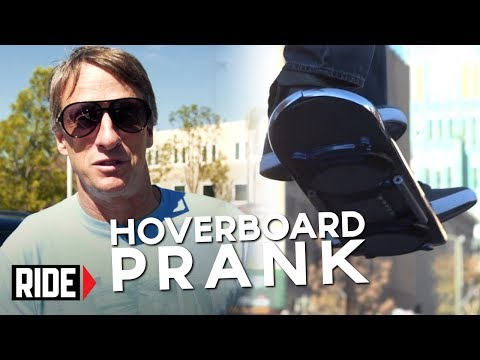 Local Tony Hawk and Christopher Lloyd trick the public with a hoverboard