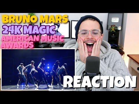 Bruno Mars - 24K Magic   American Music Awards   REACTION