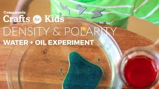It doesn't take a complicated activity to open up a dialogue with your kids about the concepts of density and polarity. Use this simple activity of mixing colored water with oil to talk to your kids about this simple science concept! For full instructions go to: http://www.pbs.org/parents/crafts-for-kids/simple-water-oil-experiment Subscribe for new videos every Wednesday: http://www.youtube.com/subscription_c...Crafts for Kids is a weekly series that encourages parents and kids to spend time together making fun and simple projects. Brought to you by PBS Parents and Caroline Gravino of Salsa Pie Productions. Music provided by APM.