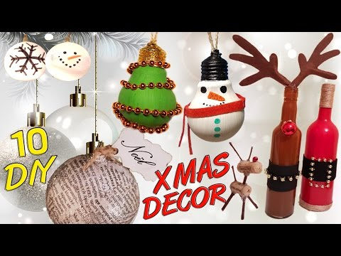 10 DIY Christmas Recycled Decoration HOW TO!
