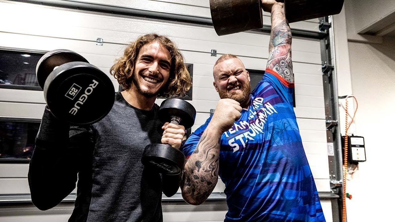 WATCH: Tsitsipas trains with Icelandic strongman