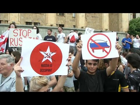 Georgien: Antirussische Proteste - Demonstranten woll ...