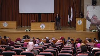 الكاتبة ليانة بدر تحيي لقاءً أدبياً على مسرح جامعة خضوري