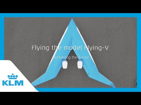 KLM & TU Delft present: Flying the model Flying-V