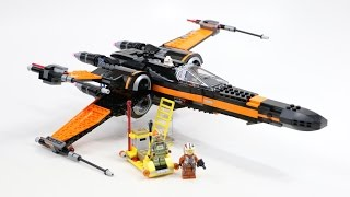 LEGO Star Wars Poe's X-Wing Fighter (Timelapse & Review) - Set 75102