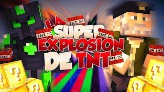 LA SUPER EXPLOSIÓN DE TNT - Willyrex vs sTaXx - Carrera épica Lucky Blocks