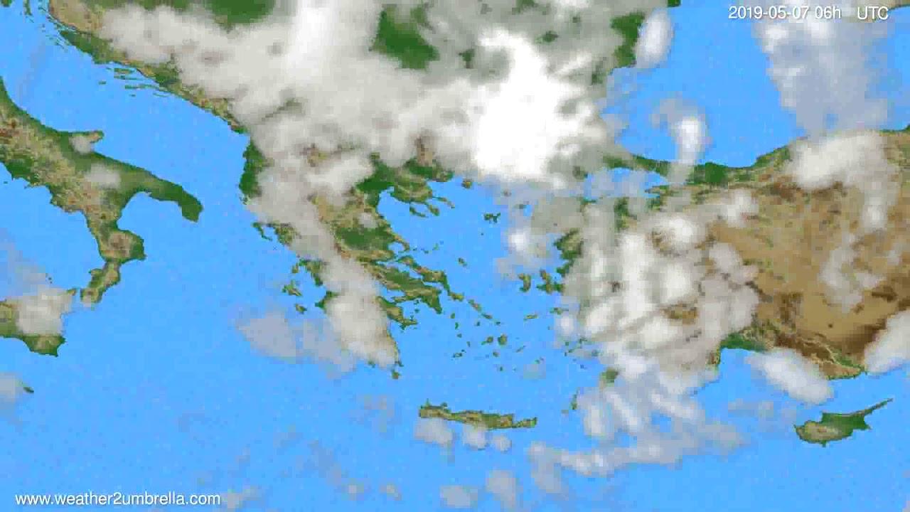 Cloud forecast Greece // modelrun: 00h UTC 2019-05-05