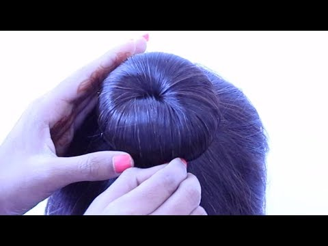 Curly hairstyles - new beautiful side bun hairstyle for weddings, farewell, party, functions, gown, lehnga  hairstyle