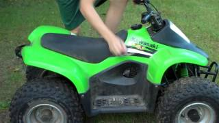 8. 2006 Kawasaki KFX 50 CC Start Up