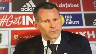 Ryan Giggs First interview as Wales Manager