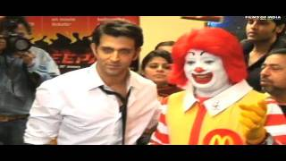 Hrithik Roshan Promotes Agneepath At Mcdonalds