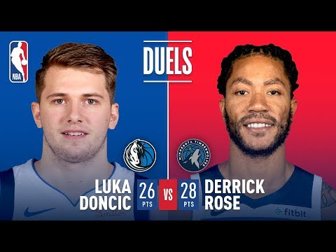 Video: Luka Doncic & Derrick Rose Battle in Dallas
