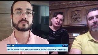 Itália: marilienses se voluntariam para ajudar doentes