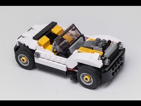 LEGO Creator 31046 alternate HOT ROD moc STOP MOTION build