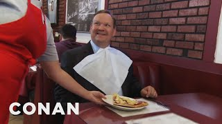 Before the US enters into a nuclear war with North Korea, Andy wants to try Hawaiian pizza.More CONAN @ http://teamcoco.com/videoTeam Coco is the official YouTube channel of late night host Conan O'Brien, CONAN on TBS & TeamCoco.com. Subscribe now to be updated on the latest videos: http://bit.ly/W5wt5DFor Full Episodes of CONAN on TBS, visit http://teamcoco.com/videoGet Social With Team Coco:On Facebook: https://www.facebook.com/TeamCocoOn Google+: https://plus.google.com/+TeamCoco/On Twitter: http://twitter.com/TeamCocoOn Tumblr: http://teamcoco.tumblr.comOn YouTube: http://youtube.com/teamcocoFollow Conan O'Brien on Twitter: http://twitter.com/ConanOBrien