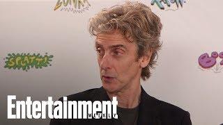 """Doctor Who"" stars Peter Capaldi, showrunner Steven Moffat, Pearl Mackie, Matt Lucas, Michelle Gomez, and writer Mark Gatiss..."