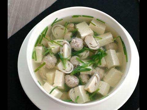Canh đậu phụ lá hẹ - món ăn nhẹ nhàng sau Tết