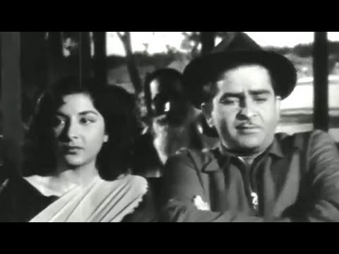Nargis, Raj Kapoor, Johnny Walker, Chori Chori - Comedy Scene 4/14