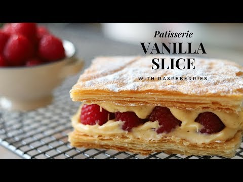 Learn To Make A Top Pastry Chef Vanilla Slice (with Raspberries) At Home