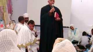 Kefale Alemu On Sundays' Prayers At The St Mary's Church Garden In London