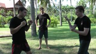 Side Kick Defense Practice   Magnificent 7 Kicks   NinjaGym Multi Martial Arts Thailand