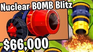 Bloons TD 6 - Nuclear Bomb Blitz - Tier 5 Bomb Tower | JeromeASF