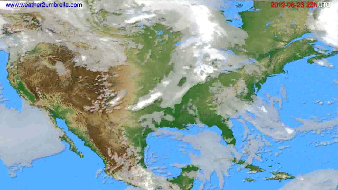 Cloud forecast USA & Canada // modelrun: 12h UTC 2019-06-20