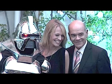 STAR TREK VOYAGER reunion: JERI RYAN and ROBERT PICARDO meet at British Consul General's party