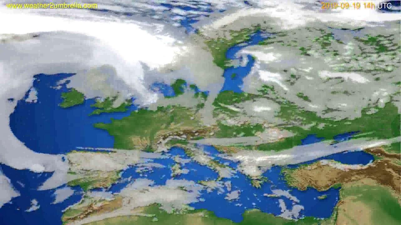 Cloud forecast Europe // modelrun: 00h UTC 2019-09-17