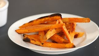 Crispy Oven-Baked Sweet Potato Fries- Kitchen Conundrums with Thomas Joseph