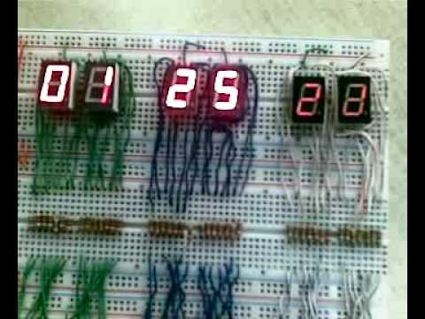 Reloj digital hecho en fime
