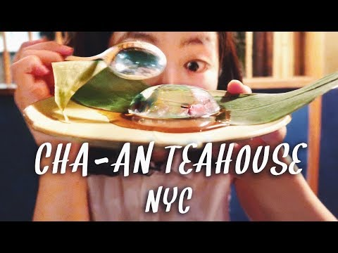 Cha-An Teahouse: Sakura RAINDROP in East Village, New York City