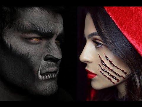 Halloween Makeup: Little Red Riding Hood