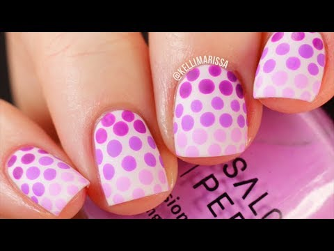 Nail art designs - Quick and Easy Polka Dot Gradient Nail Art Design (using drugstore polishes)  KELLI MARISSA