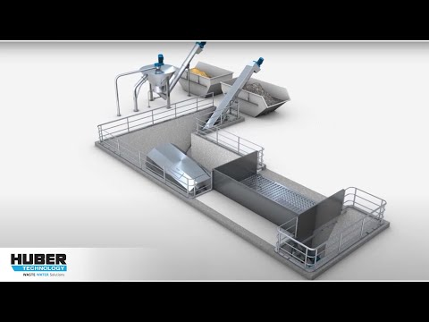 Animation: HUBER Coanda Grit Washing Plant RoSF4