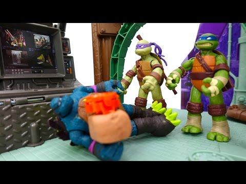 Черепашки ниндзя: детское видео с игрушками! Слэш пытается взорвать черепашек. Фабрика Героев.
