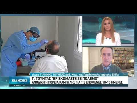 """Γ. Τούντας για πανδημία: """"Βρισκόμαστε σε πόλεμο""""    12/11/20   ΕΡΤ"""