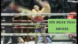 Epic Muay Thai Sweeps (Cross-Catches) ft. Sagat & Saenchai