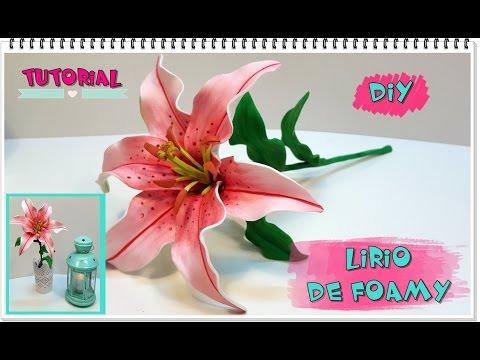 foamy - come realizzare un realistico fiore di lilium