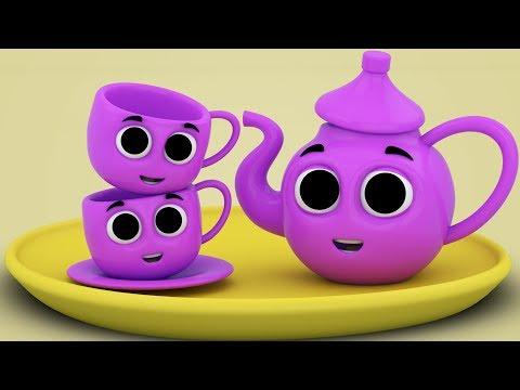 Sono un po 'teiera | canzone prescolare | poesie per bambini | I Am A Little teapot | Nursery Rhymes