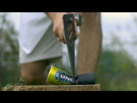 Slow Mo Guys: Axe Body Spray Vs Axe