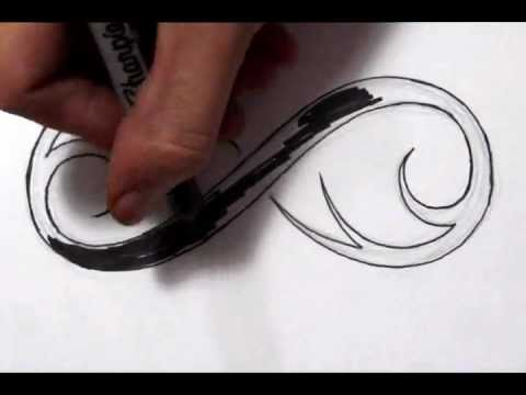 Drawing a Cool Infinity Symbol Tattoo Design - Quick Sketch