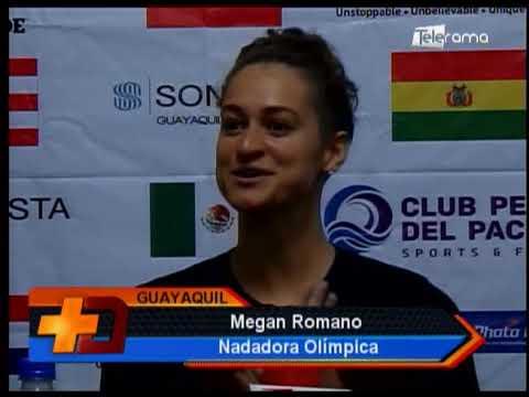 Campeona olímpica Megan Romano dictó clínica deportiva en SEK