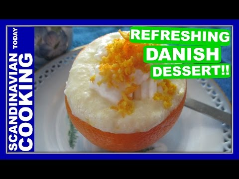 Orange Fromage Dessert – Appelsinfromage Opskrift – A Classic Danish Orange Mousse Dessert Recipe