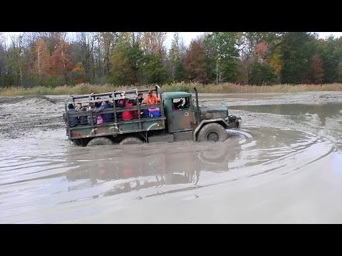 6x6 Army Truck At Oakville Mud Bog