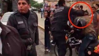 Lima - Perú - Todo ocurrió cerca al límite con el distrito de Lince, cuando el personal de San Isidro estaba interviniendo a una vendedora de pan con huevo en la calle. Para reducirla, los agentes tiraron toda la mercadería al suelo y se llevaron decomisados los insumos del ambulante.